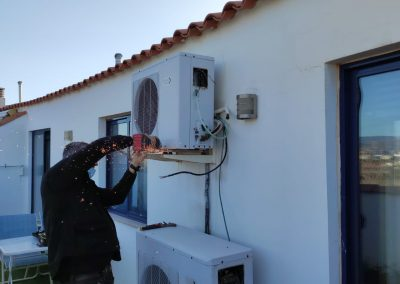 Desmontaje condensadora